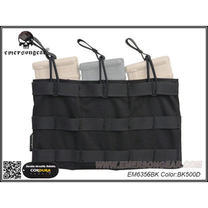 Emerson Gear 5.56 Triple mag pouch Black