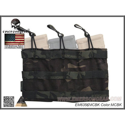 Emerson Gear 5.56 Triple mag pouch Multicam Black
