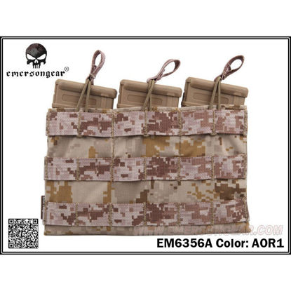 Emerson Gear 5.56 Triple mag pouch AOR1
