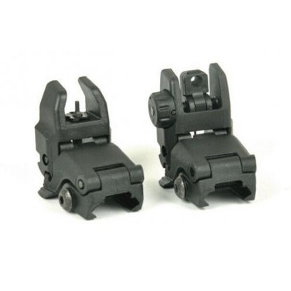Back Up Front & Rear Sight Set Black