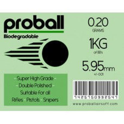 Proball 0.2g biodegradable 1kg ( 5000 rounds)