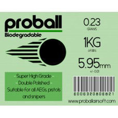 Proball 0.23g Biodegradable BBs 1kg Bag