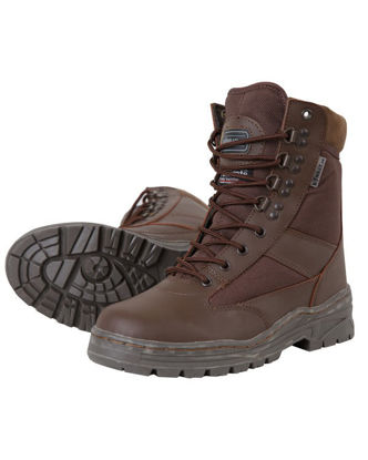 Patrol Boot - Half LeatherHalf Nylon - MOD Brown