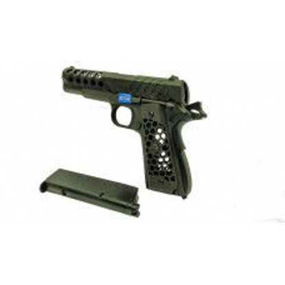 WE 1911 Hex Cut Pistol - Black