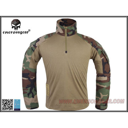 Emerson Gear G3 combat shirt - Woodland - (Medium)