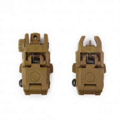 Oper8 Back up front and rear Sights - Tan