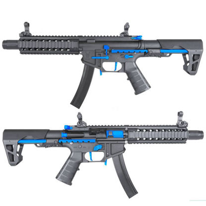 King Arms PDW 9mm SBR Long - Black & Blue