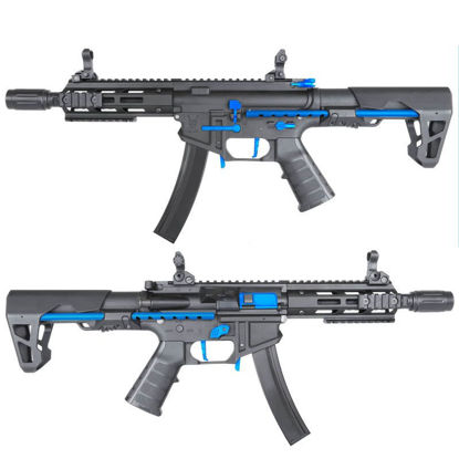 King Arms PDW 9mm SBR M-LOK - Black & Blue