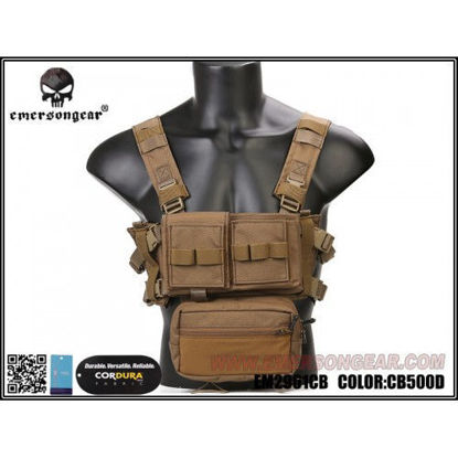 Emerson gear Micro Fight Chassis MK3 Chest Rig - Coyote Brown