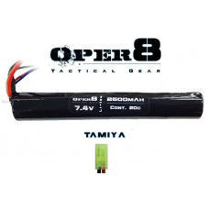 Oper8 7.4V Li-ion 2500MAH Stick Battery - Tamiya