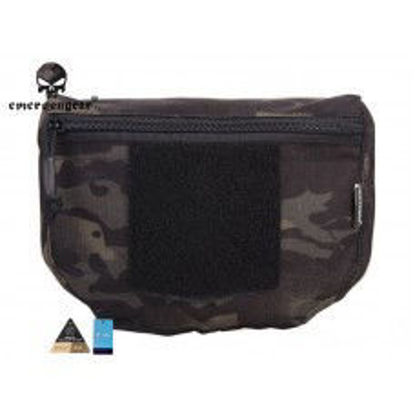 Emerson Gear Plate carrier front drop pouch - Multicam Black