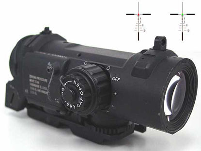 Elcan Style 1 and 4X SpecterDR Type Red Dot Sight Scope Black