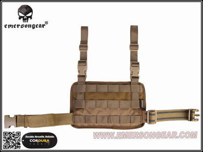 Emerson Gear Molle Leg Panel - Coyote Brown
