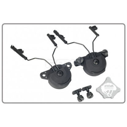 FMA EX Headset And Helmet Rail Adapter Set GEN1 - Black